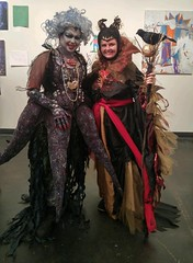Ursula and Maleficent (grumpyfaeries) Tags: disney ursula sea witch costume cosplay maleficent design sewing horns headdress makeup art wig tentacle tentacles seaweed gloves acrylic barnacles seashell shell nautilus