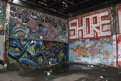 Loser, Ntel, Snarf, Spar, Chef, Shore (NJphotograffer) Tags: graffiti graff new jersey nj shortys skatepark diy skateboarding abandoned building urban explore loser aids crew ntel snarf 2wcrew 2w spar chef shore roller