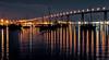 One night at Coronado Bridge. (Aglez the city guy ☺) Tags: coronadoca coronadobridge sandiego bridge california walking waterways walkingaround urban urbanexploration unitedstates seaports yacht sailboat outdoors nitephotografy