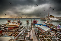 Boats 12 (`ARroWCoLT) Tags: seascape beykoz istanbul manzara kayıklar boat tekne deniz sea seaside clouds canon 700d t5i türkiye turkei birds seabirds seagull martı hdr