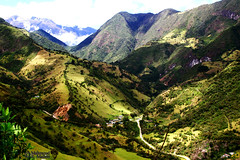 Andean Valley (2) (Mahmoud R Maheri) Tags: landscape mountain andes ecuador valley yanacocha quito green trees sunshine panorama clouds