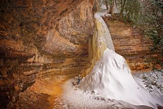 Stopped Cold:  Munising Falls, Munising, Michigan