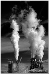 Global warming (Hugh Stanton) Tags: steam vapour factory chimney appicoftheweek