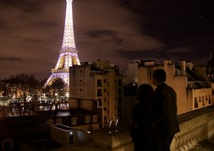A moment to cherish :) (somabiswas) Tags: paris eiffel tower france night lights shangrila htoel glasses saariysqualitypictures