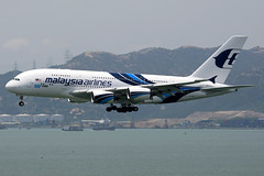 Malaysia Airlines, Airbus A380-800, 9M-MNF, Hong Kong International (Dennis HKG) Tags: plane canon airplane hongkong mas airport aircraft 1d malaysia airbus a380 mh hkg planespotting oneworld malaysiaairlines cheklapkok airbusa380 100400 vhhh 25r ahkgap 9mmnf