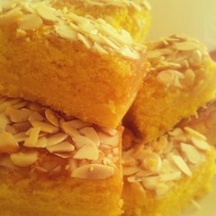 Citrus almond and polenta slices. (sian.bp) Tags: orange cake lemon citrus polenta