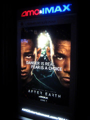 After Earth Film Billboard Poster 0206 (Brechtbug) Tags: street new york city nyc blue fiction sky building art film wall by night movie poster square mural peeling with traffic near earth flag cab taxi ad broadway smith science pop billboard m advertisement will american posters scifi billboards after characters pulp popular cabs jaden 34th herald directed shyamalan 2013