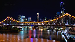 (Li Jyuan Wu) Tags: bridge australia brisbane story nightview brisbaneriver storybridge