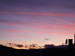 Sunset in pink (emeraldinne) Tags: pink blue sunset sky black clouds twilight europe croatia satelliteantenna