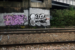 Dize / Gee (Alex Ellison) Tags: urban graffiti chrome gee throwup trackside northwestlondon throwie dize