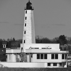 Light me up (wandavella) Tags: lighthouse building shoreline newengland ct structure newlondon blackwhitephotography