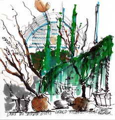 l'art du jardin, Grand palais, Paris France (julietteplisson) Tags: arbres vegetation croquis grandpalais pentelbrush