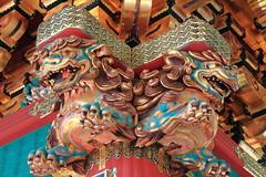 Deux Dragons Froces... - Sanctuaire Tsh-g - Nikko - Japon (Micky75017) Tags: voyage wood trip travel viaje color colors japan architecture canon temple japanese michael photo wooden shrine dragon image couleurs buddhist religion picture buddhism unesco architect 7d  colored japo nikko  shinto colori japon sanctuary couleur imagen japonais worldheritage color bouddhisme pagode toshogu  japn sanctuaire      japonia japonya gojunoto bouddhiste jepun  ducloux  gojnot micky75017