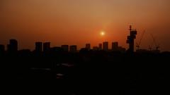 Velvia Sunset (OzGFK) Tags: sunset film silhouette analog singapore asia afternoon fuji pentax slide velvia fujifilm pentaxmx