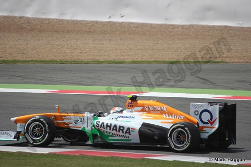 Adrian Sutil in the 2013 British Grand Prix