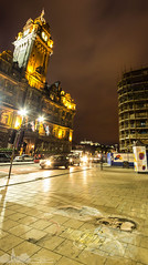 Andy Murray Picture, Princes Street (Henry Hay) Tags: street panorama castle clock andy night scotland edinburgh long exposure scafolding princes murray balmoral wimbeldon 2013 vertorama
