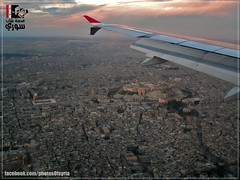 Syria - Aleppo Citadel - from the plane  |     -  (Young syrian's Lens -   ) Tags: city summer sky color art nature clouds plane wonderful landscape fly spring amazing colorful flickr shot time 10 citadel center syria castel aleppo siria    artphoto  aplus       supershot      superaplus aplusphoto
