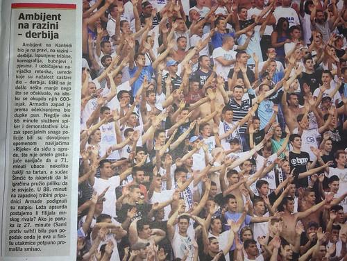 Ambijent na razini derbija (Novi List, 29.07.2013)