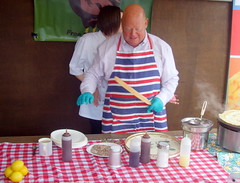 Clitheroe Food Festival 2013 - Crepes (Tony Worrall Foto) Tags: show county uk england people food cooking fun demo place northwest district candid crowd north cook stall visit lancashire event area buy taste annual items try sell samples stalls bought foodstall foodfestival clitheroe lancs ribblevalley 2013tonyworrall clitheroefoodfestival2013