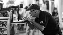 Sound Check (Chris Lue Shing) Tags: nikond600 nikkorafs85mmf18g markham unionville mainstreet ontario canada street city town people candid restaurant jazz music performance man night twilight laptop computer microphone bw blackwhite ©chrislueshing blackandwhite monochrome nikon d600