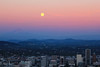 Blue Moon (Dimitri_Stucolov) Tags: sunset sky colors oregon portland rising northwest fullmoon mthood pacificnorthwest portlandor bluemoon pittockmansion sturgeonmoon grainmoon dimitristucolov dimitristucolovphotography