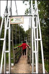 20130809-31 (sulamith.sallmann) Tags: bridge people nature landscape person countryside europa natur bridges menschen latvia valley heike brcke landschaft tal personen mensch brcken lettland latvija lva bergang berfhrung sulamithsallmann gaujatal