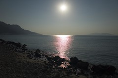kos kardamena beach sunrise (Michael Blacktom) Tags: morning light sea summer sky sun mountain seascape mountains color colour beach water rock stone sunrise turkey landscape sand rocks earlymorning kos greece seaview beachview kardamena sunrisekardamena