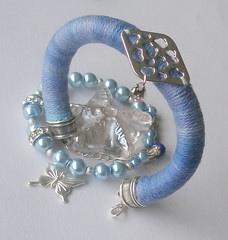 More Winter Bracelets (klio1961) Tags: blue beautiful diy beads handmade unique oneofakind jewelry pearls gifts bracelets imadethis bluejeans charms madebyme rhinestones authentic imadeit lightblue artesania findings vividcolors joyas pulseras hechoamano xantres nicelittlethings kosmimata braxiolia xeiropoiito vraxiolia