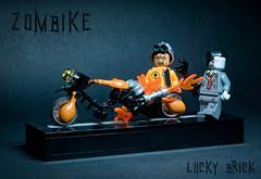 Zombike (luckybrick1001) Tags: bike lego zombie motorbike zombike