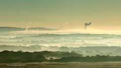Mist over Cefn Bryn (Jo Evans1 - off and on for a while) Tags: mist port sunrise tata hanging bryn talbot steelworks cefn