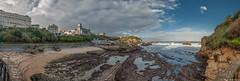 Biarritz. (Jérôme Cousin) Tags: ocean auto sea panorama mer landscape nikon pano panoramic 64 28 tamron pays basque euskadi biarritz pyrenees panoramique stiched bab euskal herria atlantiques 2470 autopano herri d700