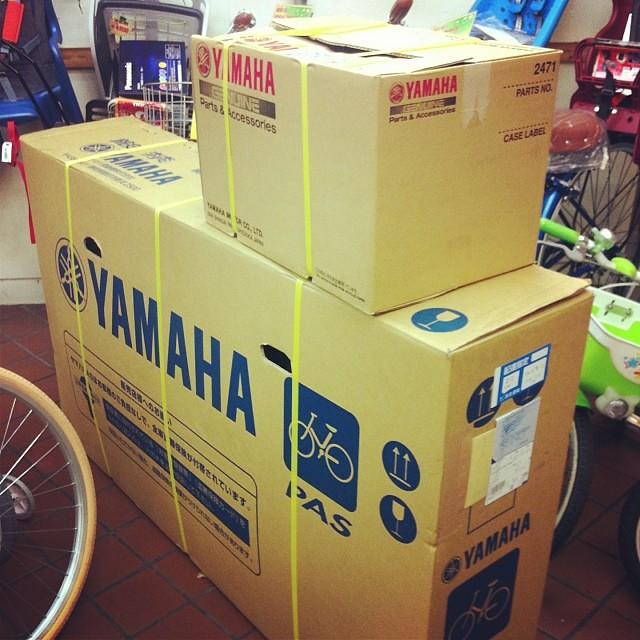ヤマハの電動アシスト自転車が入荷!さあ組み立てよう!#eirin #ヤマハ #PAS