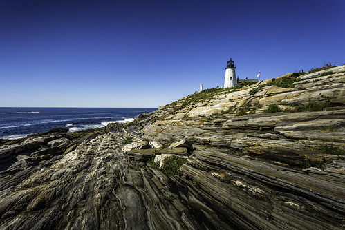 Rocky Ledges At Pemaquid Lighthouse