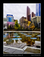 Fall colours at Olympic Plaza, Calgary, Alberta (kgogrady) Tags: plaza city morning autumn trees canada west color colour reflection building tree calgary fall skyline buildings walking outside downtown cityscape exterior skyscrapers walk south noone ab nopeople canadian alberta highrise western olympic ornamental 2012 yyc iphone olympicplaza calgaryalberta calgaryab southernalberta canadiancity iphone4 calgarypictures skylinephotos picturesofcanada photosofcanada skylinepictures iphoneography canadianskyline calgarypubliclibraryphotographyclub iphone4s picturesofcalgary photosofcalgary picturesofalberta photosofalberta
