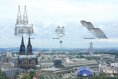 Koeln Triangle Panorama (tomosang R32m) Tags: bridge germany cathedral dom cologne kln koeln rhineriver colognecathedral observationdeck klner  hohenzollern  hohenzollernbrcke  klntriangle hohenzollernbridge panprama koelntriangle   domstpeterundmaria