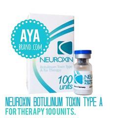 Neuroxin Botulinum Toxin Type A for Therapy 100 units. ✅Price : 1900 THB Neurotoxin Botox ใช้ฉีดเพื่อปรับรูปหน้าให้เรียวสวยขึ้น โดยการลดขนาดกล้ามเนื้อบริเวณกราม สามารถเห็นผลการรักษาภายใน 3-4 สัปดาห์ และอยู่ได้นาน 5 เดือน - 6 เดือน โดยหากมีการฉีดกระตุ้นในร
