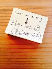 Time plus Money --> Adventure (www.AlastairHumphreys.com) Tags: money post time postit it adventure
