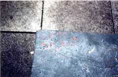 (_s t e v e n) Tags: city ireland red slr film galway stone 35mm concrete grey graffiti focus heart tag olympus om10 vandalism manual cheap dando vets vision:m