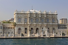Dolmabahçe Palace (oxfordblues84) Tags: water architecture istanbul palace palmtree baroque bosphorus rococo neoclassical ncl dolmabahçepalace shoreexcursion norwegianspirit norwegiancruiseline 5photosaday bosphorusstrait ottomanstyle norwegianspiritcruise norwegianspiritshoreexcursion istanbulbylandandsea