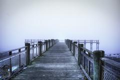 Fade to grey 2 (Singing With Light) Tags: morning 2 beach fog photography pier gulf pentax january february k3 2014 ctwinter gulfbeach miilford singingwithlight singingwithlightphotography