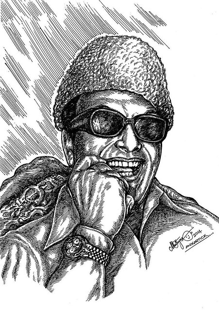 MGR - M.G.RAMACHANDRAN - Puratchithalaivar - PonmanaSelvan - Great Actor - Director - Producer - Late CM of Tamil Nadu,Founder of AIADMK Party - Drawing - Painting