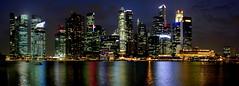 Singapore Skyline Night View (Luiz F