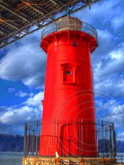 The Little Red Lighthouse and the Great Gray Bridge, Fort Washington Park, New York City (jag9889) Tags: park city nyc bridge red lighthouse ny newyork grey book newjersey crossing suspension little manhattan nj hudsonriver gw gwb waterway georgewashingtonbridge washingtonheights fortwashington 2014 wahi bergencounty hildegardeswift bridgegate panynj portauthorityofnewyorkandnewjersey jeffreyshook k007 chrischristie jag9889