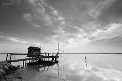 fisherman lodge (Denis Bartoli) Tags: longexposure italy canon blackwhite italia biancoenero ravenna marinaromea portocorsini vallebaiona blinkagain