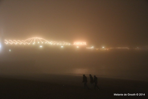 Foggy Night at Brighton Pier
