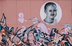 Fanciullo - street art (Tiziano Caviglia) Tags: streetart ceramica mural babies bambini liguria murale savona maiolica rivieradellepalme ceramictilework