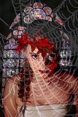 Gothic. (sabrina.pawley) Tags: leica autumn windows church glass girl collage spider tim web inspired portraiture braid gothis walkeer leicapia