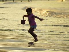 brincando de ser feliz (marcia.kohatsu) Tags: sunset summer vacation praia beach kid child criança portobelo santacatarina brincando brincadeira childrunning perequê