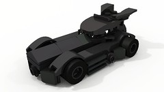 Batmobile (hajdekr) Tags: toy lego small micro batman batmobile ldd microscale