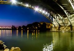 Dusk (Raggedjack1) Tags: bridge sevilla spain rioguadalquivir puenteisabelii quadalquivirriver